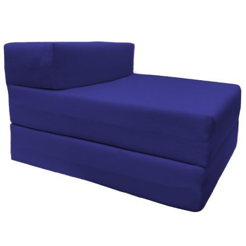 Comfortable Supreme Quality 100% Cotton Single Fold Out Z Bed Chair Futon in Royal Blue. Soft, Comfortable & Lightweight with a Removeable Cover. Available in 12 Colours. Ready Steady Bed