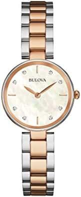 Bulova womens 98P147 12mm Two Tone Stainless Steel Two Tone Watch Bracelet
