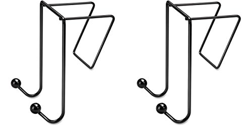 Fellowes Wire Partition Additions Double Coat Hook (75510), 2 Packs (Additions Fellowes Partition Hook Coat)