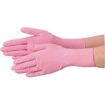 使い捨て 手袋 エブノ 570 ニトリル ピンク Mサイズ パウダーフリー 2ケース(100枚×60箱) B07218Z7PJ