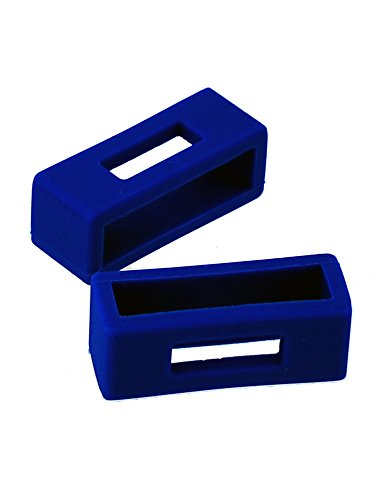 Silicone Watch Band Loop Keepers - Blue 2X for 24mm Lug Width (LOOP0007-2B)