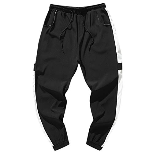 perfectCOCO Plus Size Mens Sport Pants Hiking Pants Adventure Quick Dry Travel Mountain Trousers Lightweight Black