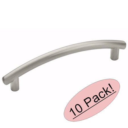 Amerock BP52992-G10 Allison Value Hardware Contemporary Arch Satin Nickel Bar Cabinet Hardware Handle Pull - 3-3/4