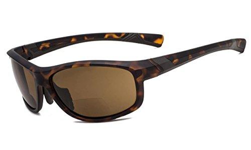 Frame Brown Tortoise (Eyekepper Fashion Sports Bifocal Sunglasses TR90 Unbreakable Outdoor Readers Baseball Running Fishing Driving Golf Softball Hiking Matte Tortoise Frame Brown Lens +3.0)
