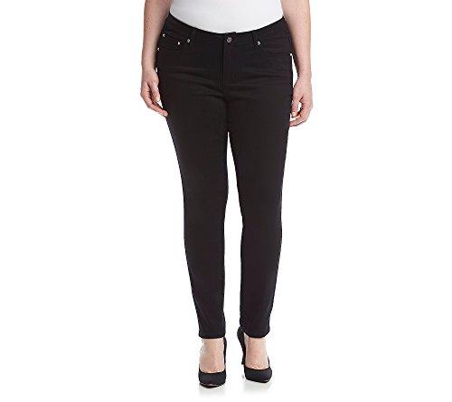 Earl Jean Plus Size Swirl Pocket Skinny Jeans 18W
