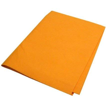 Demonstrator Mirror - Original Germany Shammy Floor Cloth 180 Grams,Super Absorbent,20'' x 27'',Made in West Germany,100% Rayon/Viscose,Orange. (3)