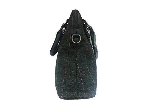 """La Loria Borse donna set 3 pezzi """"Black Star"""" tasca, borsa a tracolla, borse a secchiello, borse a spalla, borse a tracolla, borse tote in nero"""