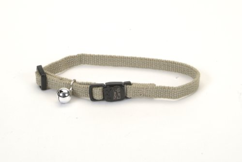 New Earth Soy Adjustable Breakaway Cat Collar, Olive, 8-12