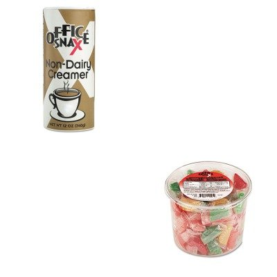 Office Snax Creamer (KITOFX00005OFX00020 - Value Kit - Office Snax Assorted Fruit Slices Candy (OFX00005) and Office Snax Reclosable Canister of Powder Non-Dairy Creamer (OFX00020))