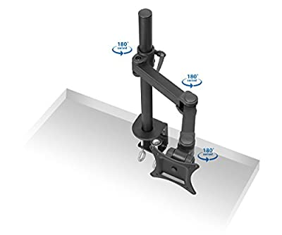 """Mount-It! Articulating Quad Arm Computer Monitor Desk Mount for Monitors up to 27"""""""