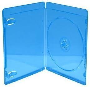 MediaRange BOX39-50 Blu-ray case, 1 disco azul, estuche transparente para CD / DVD, 1 paquete de 50 piezas