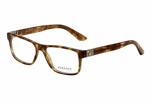 Versace Men's VE3211 Eyeglasses Striped Havana 55mm (Versace Sonnenbrillen Billig)