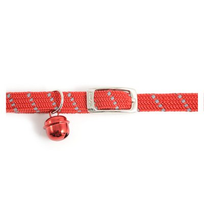 Pet-Essentials Ancol Red Softweave Reflective Cat Collar (Eco-Friendly Packaging)