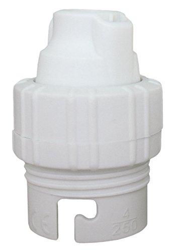 Douille B22 Nylon Simple Bague Blanc