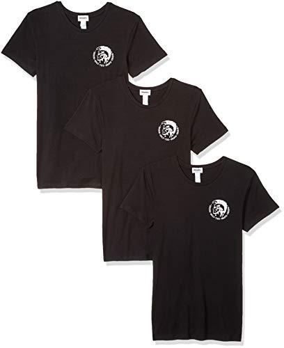 Diesel Men's UMTEE-RANDALTHREEPACK T-Shirt, Ebony XS ()