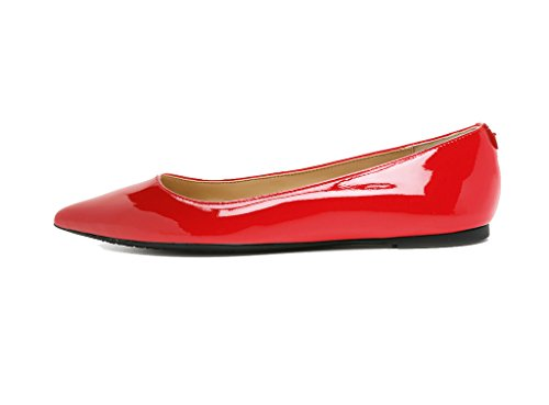 Guoar - Scarpe chiuse Donna, Rosso (rosso), 35 /22.3cm