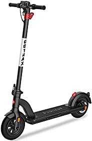 """GOTRAX G4 Foldable Electric Scooter, Large Battery 36V/10.4Ah Up to 25 Miles Long-Range, 10"""" Air Filled T"""