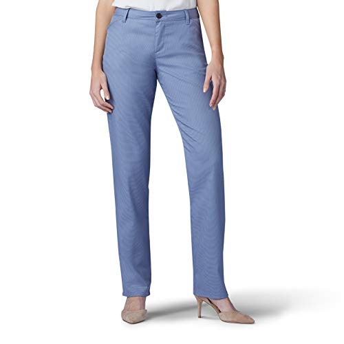 LEE Women's Relaxed-Fit All Day Pant, Waterscape Tweed, 10