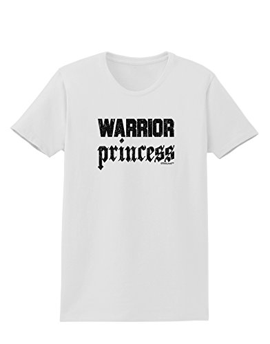 TooLoud Warrior Princess Script Womens T-Shirt - White - XS -