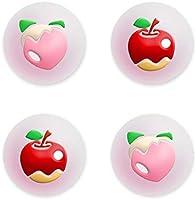 【Nintendo Switch/Switch lite 対応】果物 アナログスティックカバー(4個入) 可愛い フルーツ ジョイスティック 保護カバー 親指グリップキャップ アシストキャップ シリコン コントロール キャップ