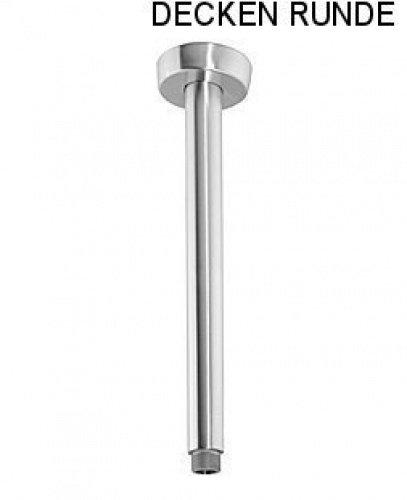 DeLanwa, 604065.0, Braccio a soffitto Braccio doccia per soffione a pioggia 40 centimetri rotonda in acciaio inossidabile spazzolato