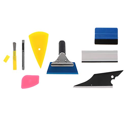 Itlovely 8Pcs Car Window Tint Wrapping Vinyl Tools Squeegee Scraper Applicator Kits Set