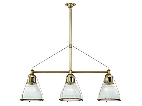 Hudson Valley Lighting Three Island Pendant Hudson Valley 7313-Agb Restoration Haverhill Collection in Brass-Antiquefinish, 48.00 Inches, 4 Light, Aged Brass (Haverhill Pendant Lighting)