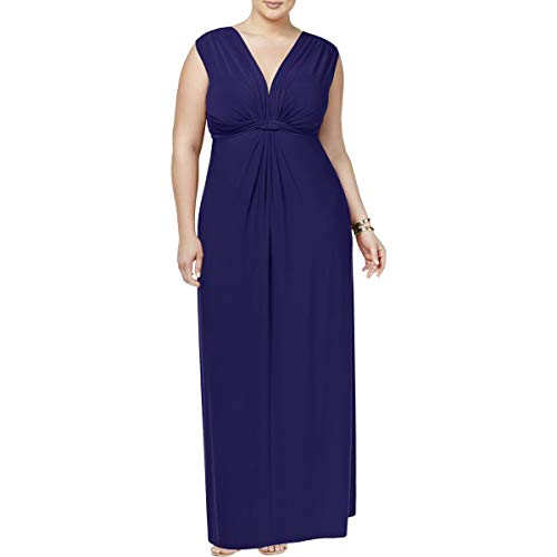 Love Squared Womens Plus Matte Jersey Knot-Front Cocktail Dress Navy - Dress Jersey Front Matte