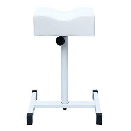 PanelTech Adjustable Nail Footrest Pedicure Manicure Technician Beauty Stand Stool Salon Spa Equipment White