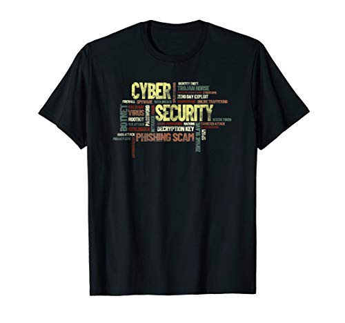 Cyber Security Word Cloud T-Shirt