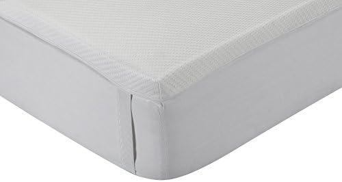 Classic Blanc - Topper, sobrecolchón viscoelástico aloe vera, desenfundable, firmeza media, 120 x 190 cm, altura 5 cm, cama 120 (Todas las medidas)