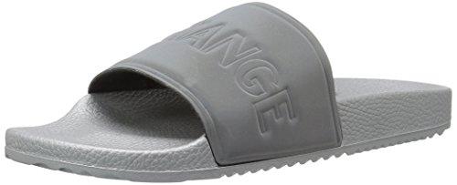 En   X Armani Exchange Mænds Letvægts Tøffel Gummi Slide Sandal Sølv vHMtYRK