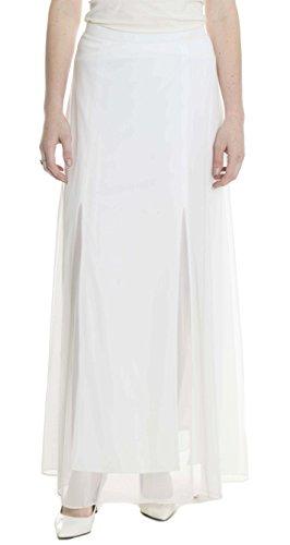 - Tadashi Women's Soft Tulle Mesh Full Length Skirt in White, 6