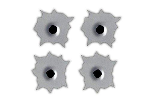 (Bullet Holes Sticker Decal (Set of 4) Each Sticker is 2x2)