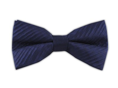 The Tie Bar 100% Woven Silk Seersucker Solid Navy Self-Tie Bow - Seersucker Silk