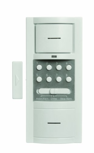 Xodus Innovations HS4317D Carlon Thomas and Betts Battery Powered Wireless Security Door Alarm with Key Pad, White - Keypad Door Alarm