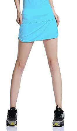Falda de Golf Skort Tenis Mujer Negra Pantalón Ropa Padel Running ...