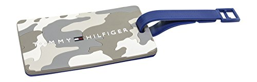(Tommy Hilfiger Camo Luggage Tag, Cream)