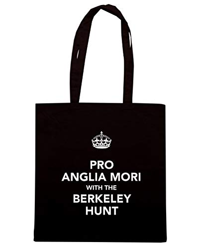 Borsa Shopper Nera TKC0951 KEEP CALM AND PRO ANGLIA MORI WITH BERKELEY HUNT