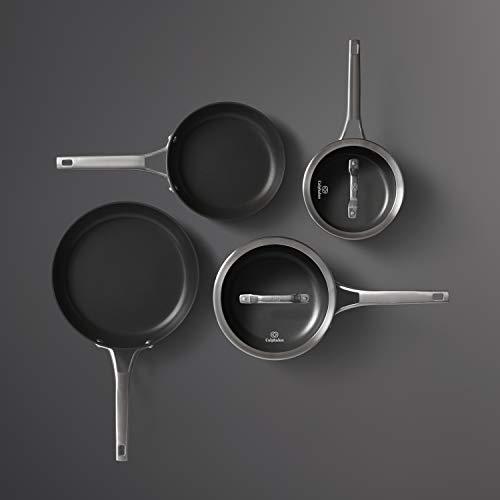 Calphalon 2052667 Premier Hard-Anodized Nonstick 6-Piece Cookware Set, Black ()