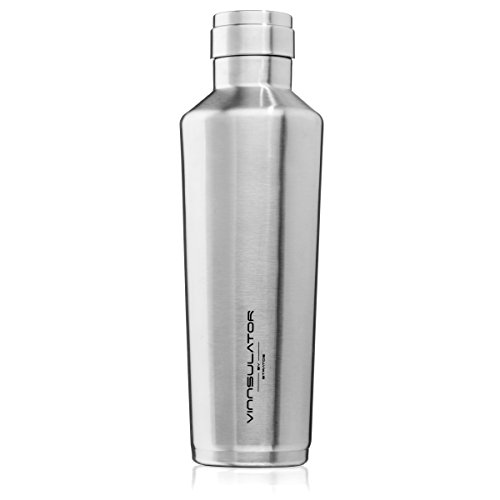 STRATOS Vinnsulator Double Wall Insulated Tumbler Water Bottle & Thermos - Powder Coated & Heavy Duty Stainless Steel (Stainless Steel, 25 oz)