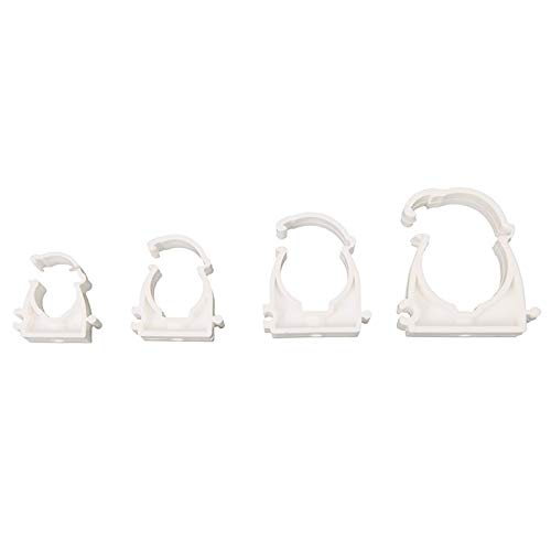 Labu Store 10Pcs/lot Plastic PPR Lock Type Pipe Clamp Single U Clamp Holder for Water Pipe Tube 16mm 20mm 25mm 32mm
