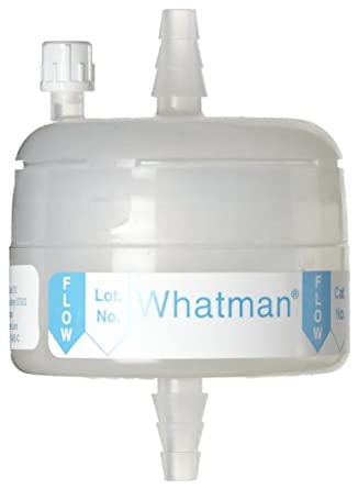 Whatman 6705-3600 Polycap SPF 36 Polyethersulfone Membrane Capsule Filter with SB Inlet and Outlet, 60 psi Maximum Pressure, 1.0 Micron