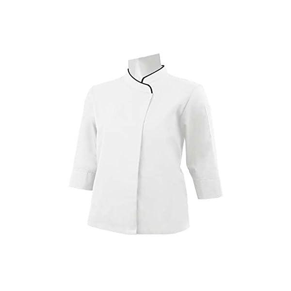 MISEMIYA Chaquetas Cocinero Uniformes Chef Jacket Mujer 4