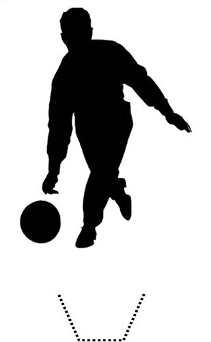 novelty bowling silhouette 12 edible stand up wafer paper cake