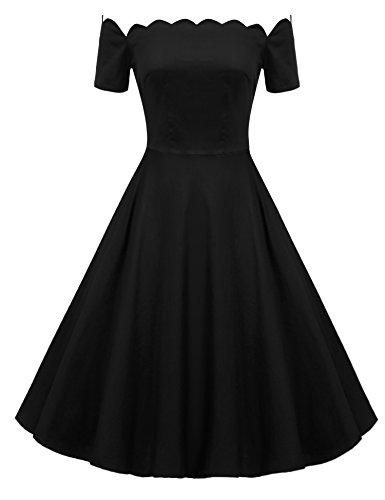 Buy black 40s style dress - 6