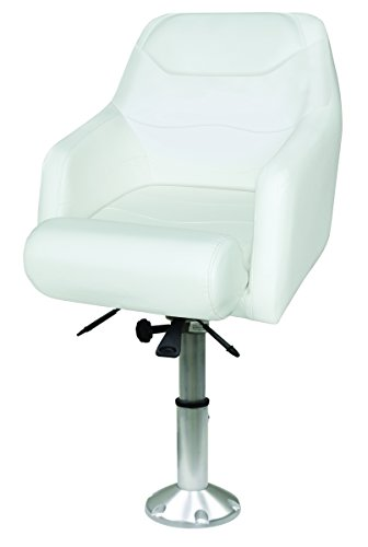 (Wise 8WD1205-12-784 Premium Flip-Up Bolster Bucket Seat with Air-Powered Adjustable Height Pedestal, Cuddy Bright)