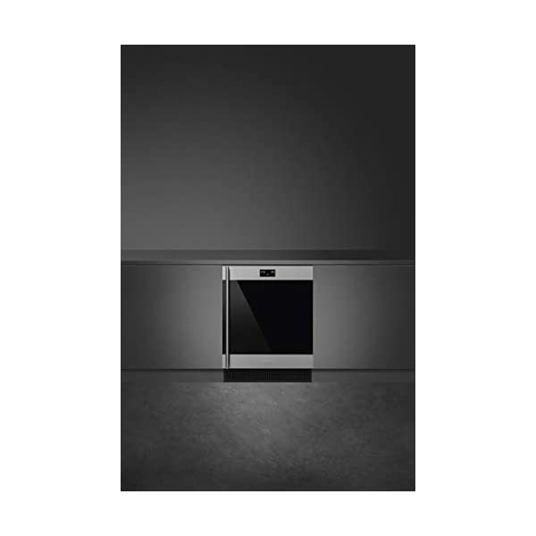 Smeg CVIU338RX Classic Series Built-In Under Counter Wine Cooler 24-Inches with 38 Bottle Capacity, 5 Extension Wine… 2