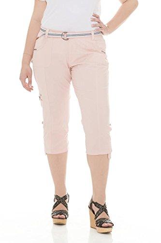Suko Women Cargo Pants Adjustable Capri 17773 Pink 12
