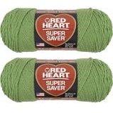 Bulk Buy: Red Heart Super Saver (2-pack) (Tea Leaf, 7 oz each (Yarn Tea)